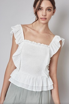 Do & Be Ruffle Smocking Top - Product List Image