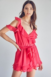 Do & Be Ruffle Tie-Front Romper - Product Mini Image