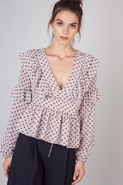 Do & Be Ruffled V-Neck Top - Product Mini Image