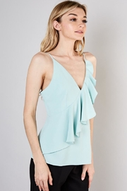 Do & Be Sage Ruffled Top - Front full body