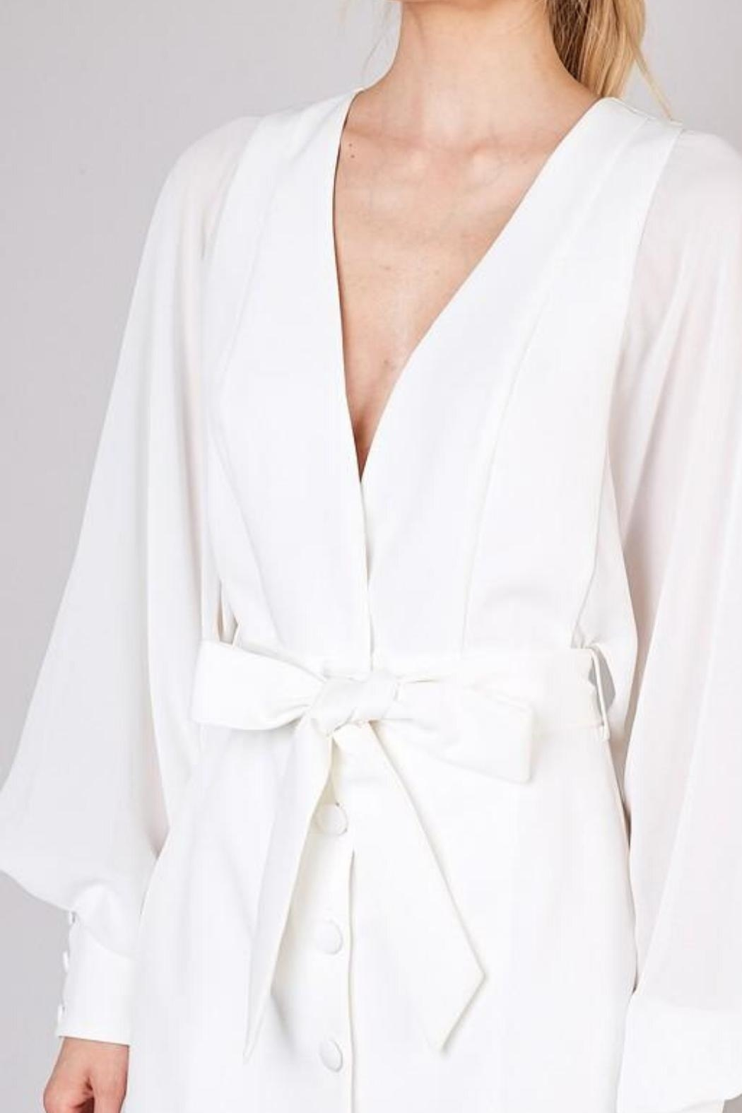 Do & Be Sheer Balloon-Sleeve Dress - Side Cropped Image