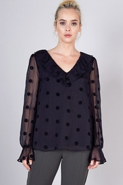 Do & Be Sheer Top With Ruffle Detail - Product Mini Image