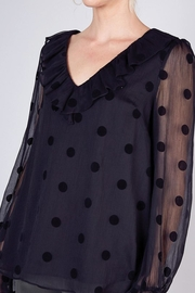 Do & Be Sheer Top With Ruffle Detail - Front full body