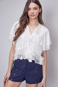 Shoptiques Product: Short-Sleeve Ruffle Top