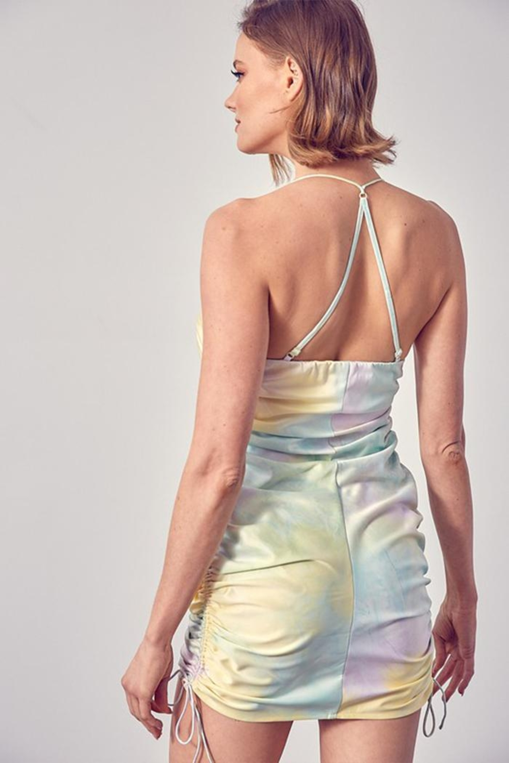 Do & Be Side Ruched Dress - Side Cropped Image