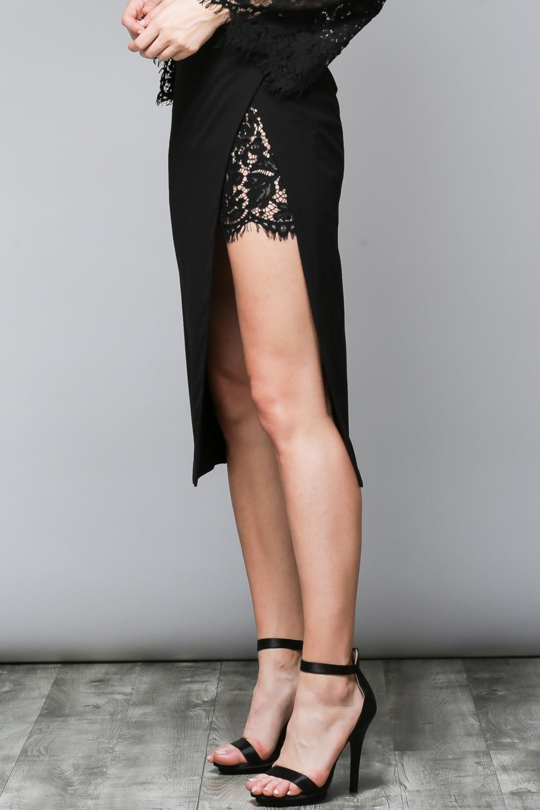 Do & Be Side Slit Skirt - Front Cropped Image