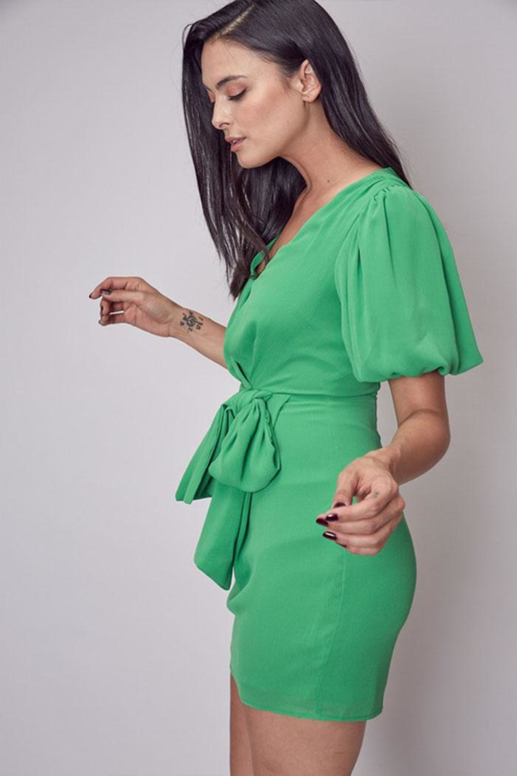 Do & Be Side Tie Dress - Front Full Image