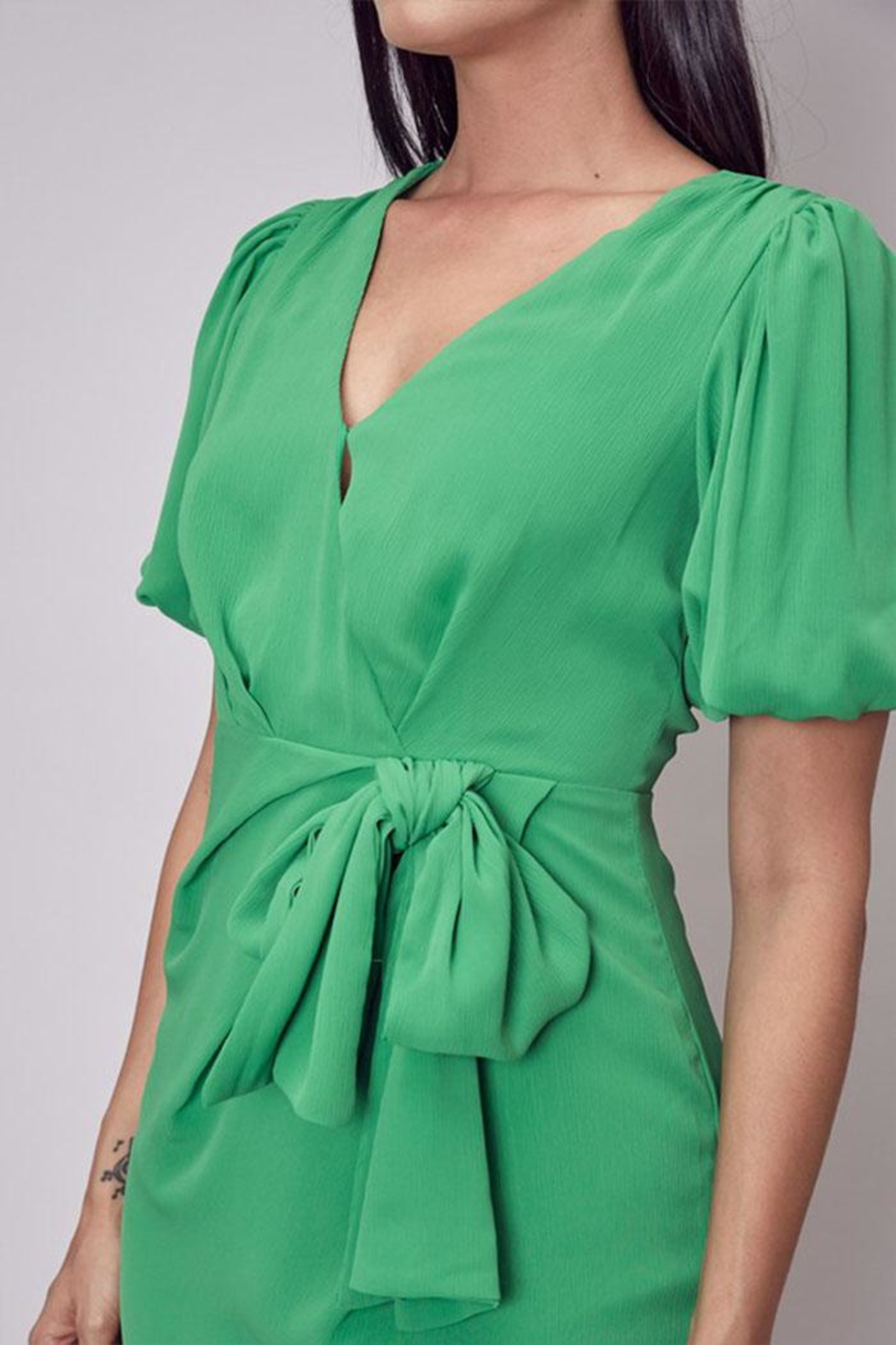 Do & Be Side Tie Dress - Back Cropped Image