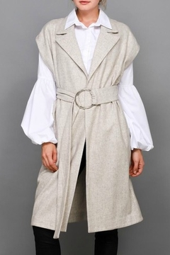 Shoptiques Product: Sleeveless Belted Coat