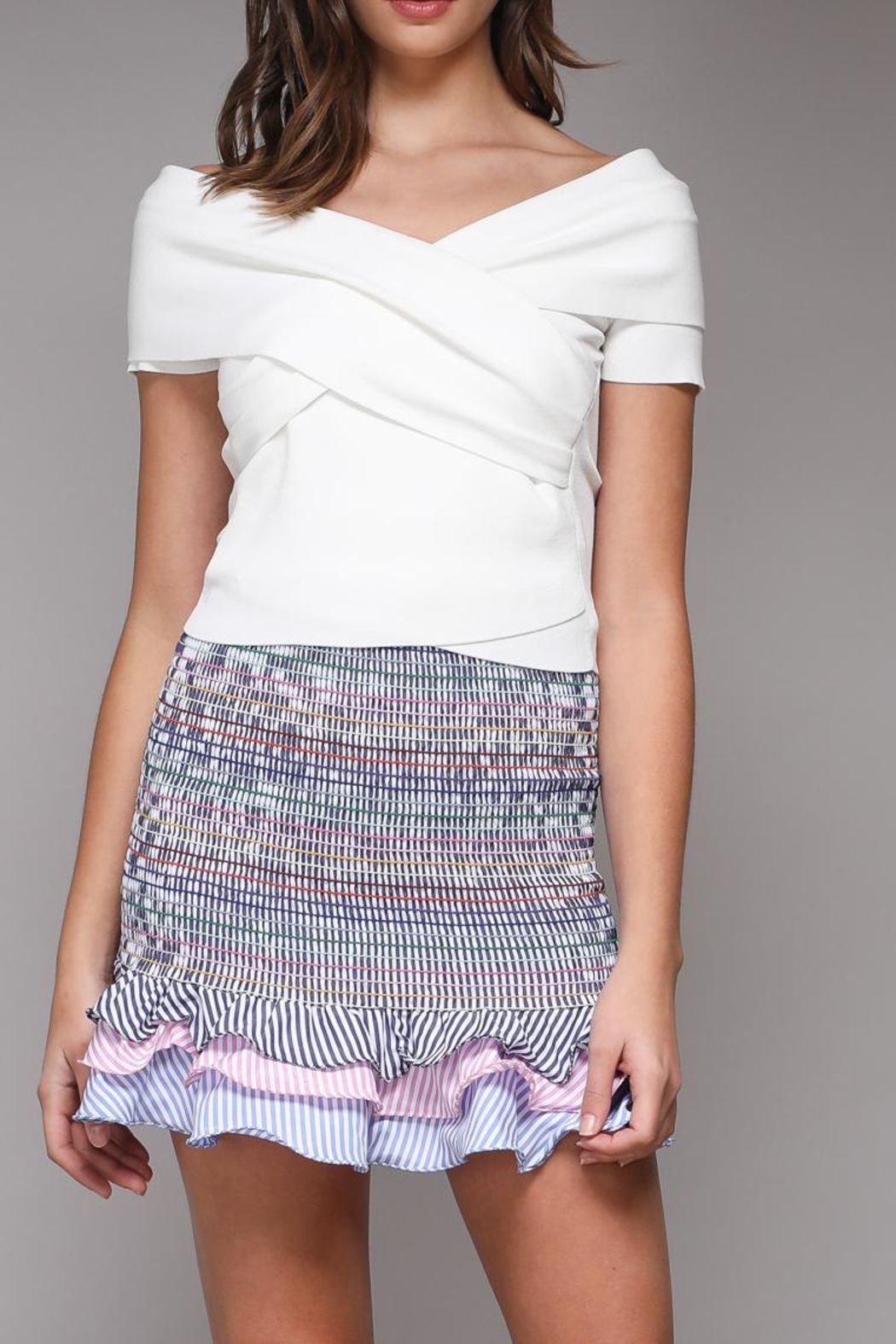 Do & Be Sleeveless Wrap Top - Side Cropped Image