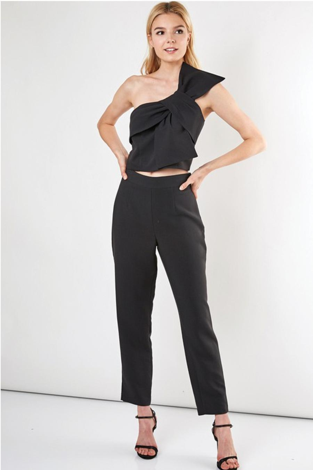 Do & Be Slim Fit Pant With Side Zipper - Back Cropped Image
