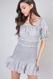 Do & Be Smocked Mini Dress - Front cropped