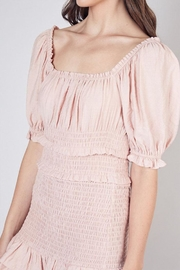 Do & Be Smocked Mini Dress - Back cropped