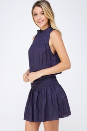 Do & Be Smocked Sleeveless Dress - Side cropped