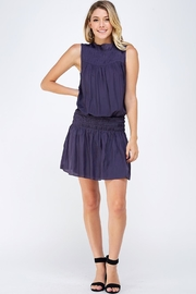 Do & Be Smocked Sleeveless Dress - Front full body