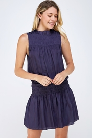 Do & Be Smocked Sleeveless Dress - Front cropped