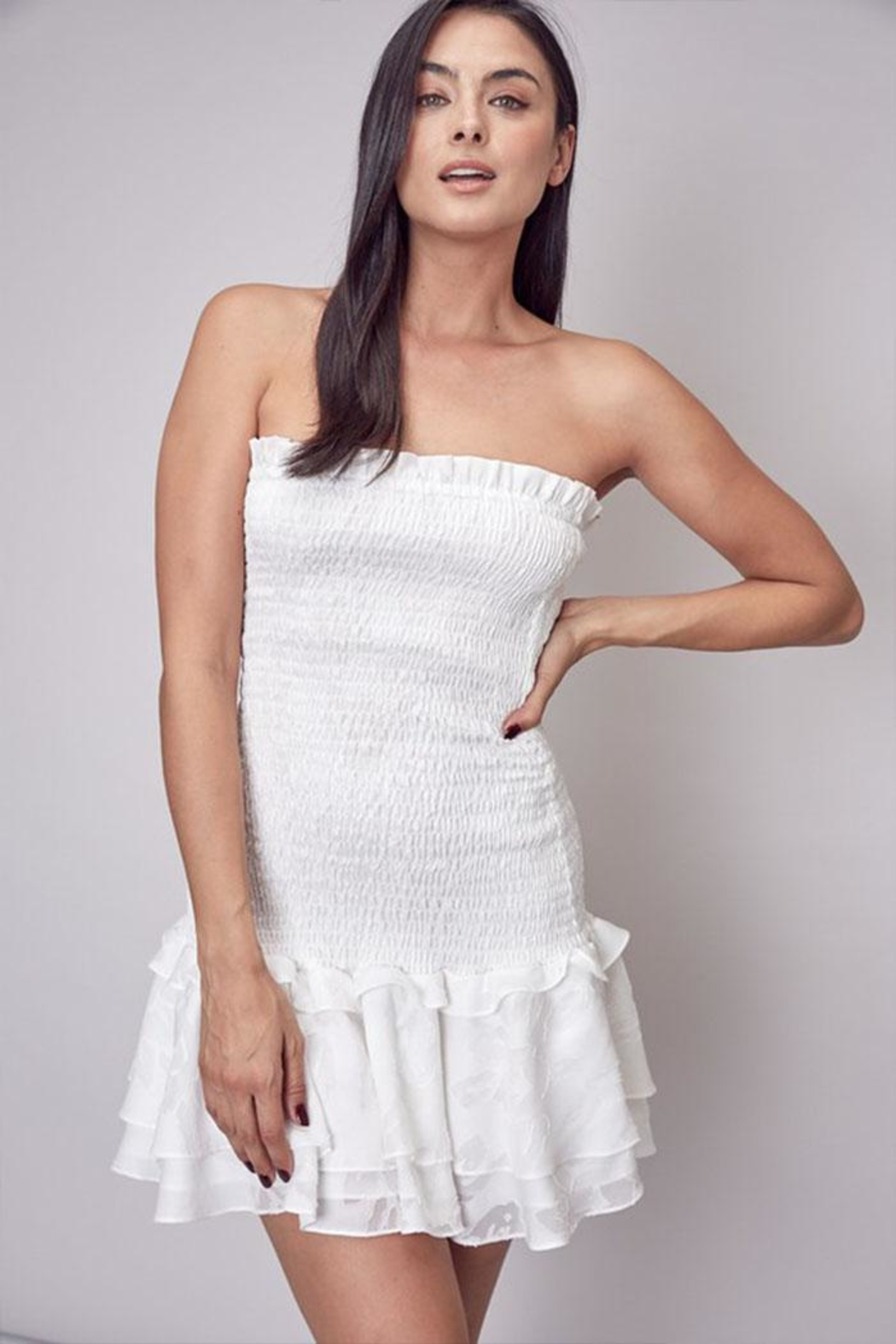 Do & Be Smocked Strapless Dress - Main Image