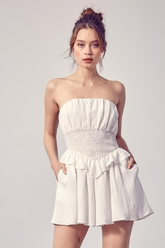 Do & Be Smocked Strapless Romper - Product List Image