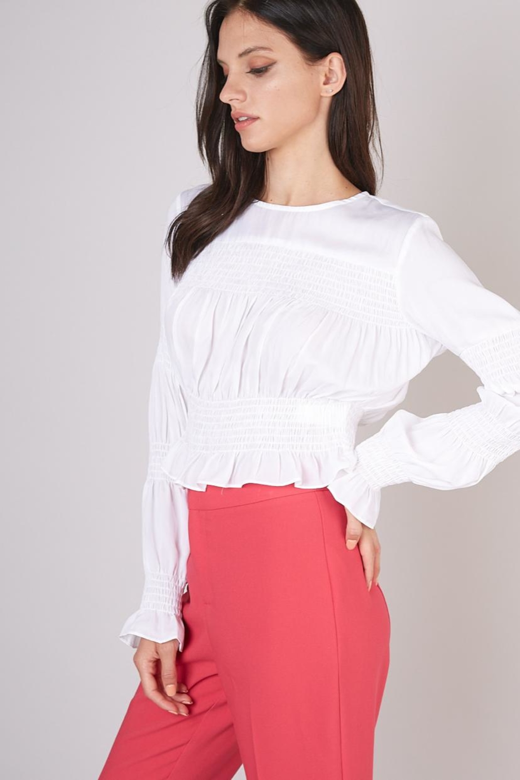 Do & Be Smocking Detail Top - Front Full Image