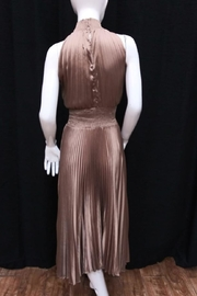 Do & Be Smocking Pleated Dress - Front full body