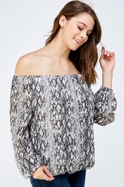 Do & Be Snake Print Blouse - Side cropped