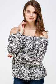 Do & Be Snake Print Blouse - Front cropped