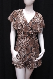 Do & Be Snake Print Romper - Front cropped