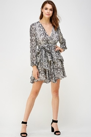 Do & Be Snake Ruffle Dress - Front full body