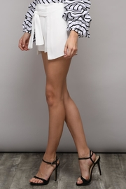 Do & Be Solid Bow Shorts - Front full body