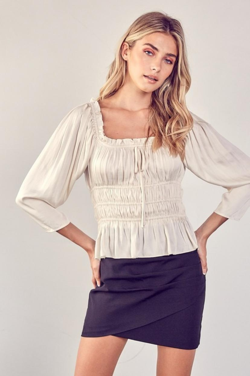 Do & Be Square-Neck Ruched Top - Main Image