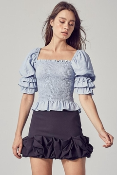 Do & Be Square-Neck Smocked Top - Product List Image