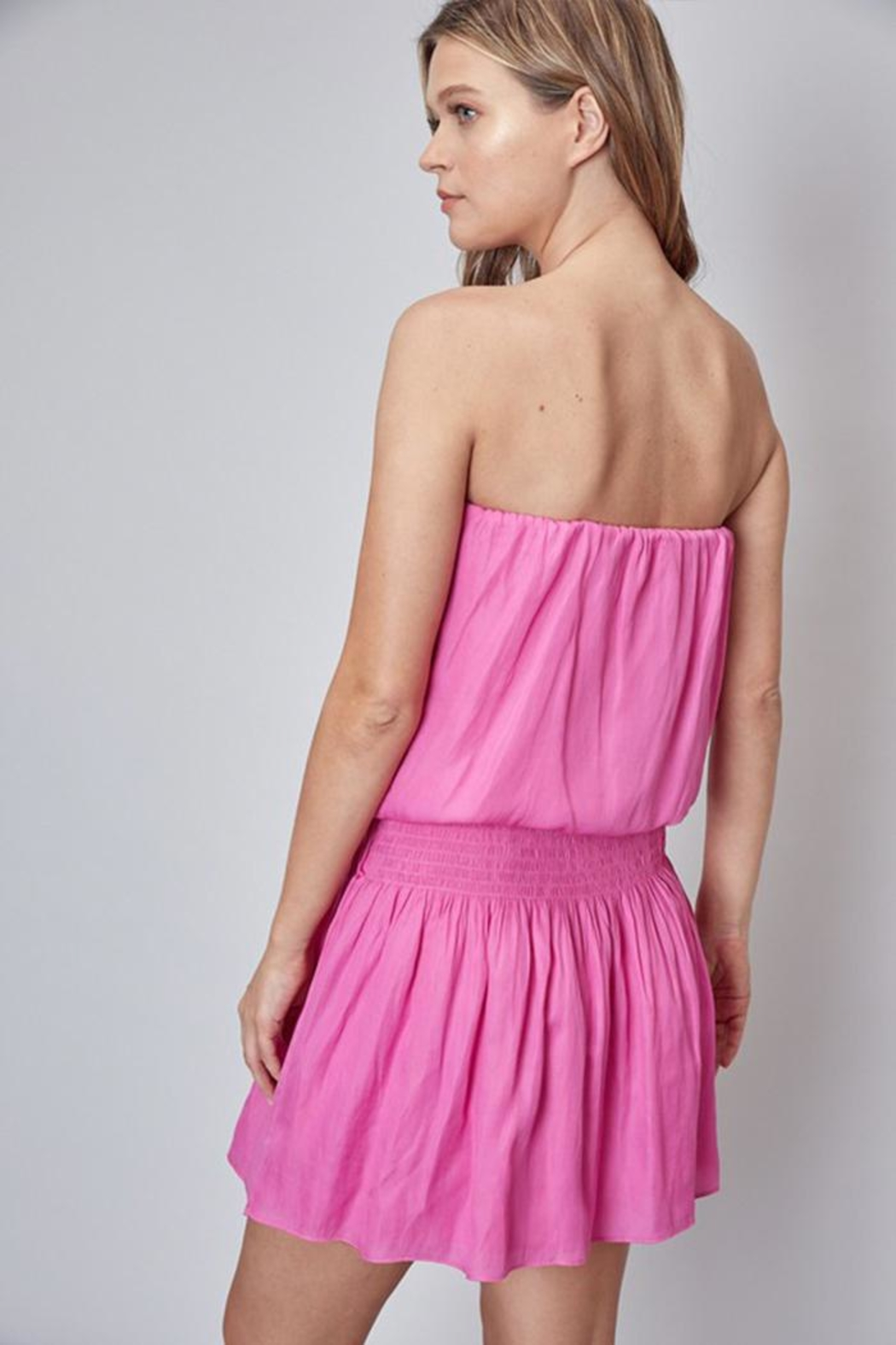 Do & Be Strapless Dress - Side Cropped Image
