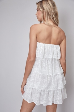 Do & Be Strapless Floral-Embroidered Dress - Alternate List Image