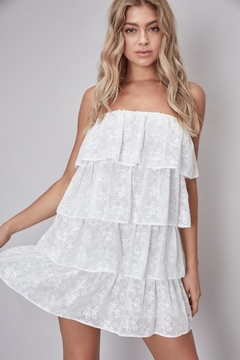 Do & Be Strapless Floral-Embroidered Dress - Product List Image