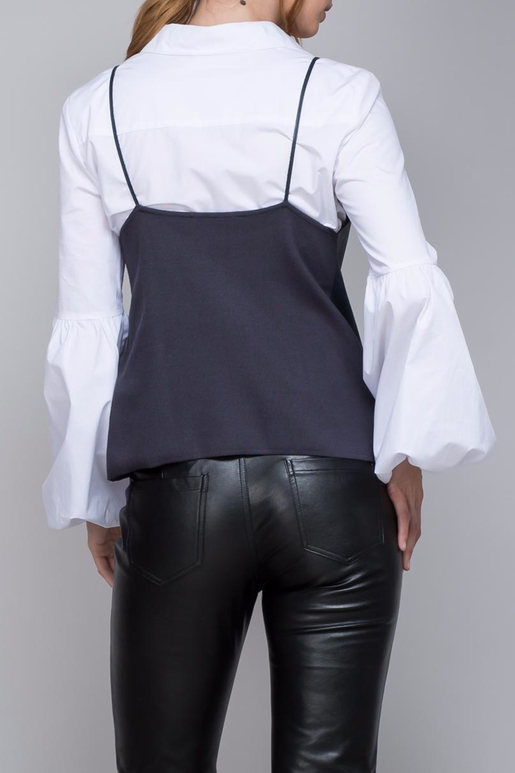 Do & Be Strappy Leather Top - Front Full Image