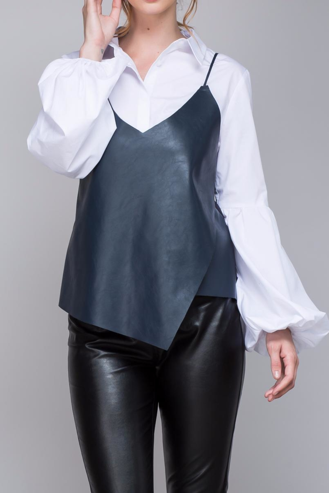 Do & Be Strappy Leather Top - Main Image