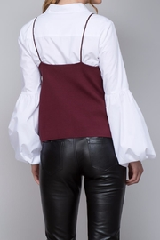 Do & Be Strappy Leather Top - Front full body
