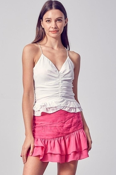 Do & Be Strappy Ruched Top - Product List Image