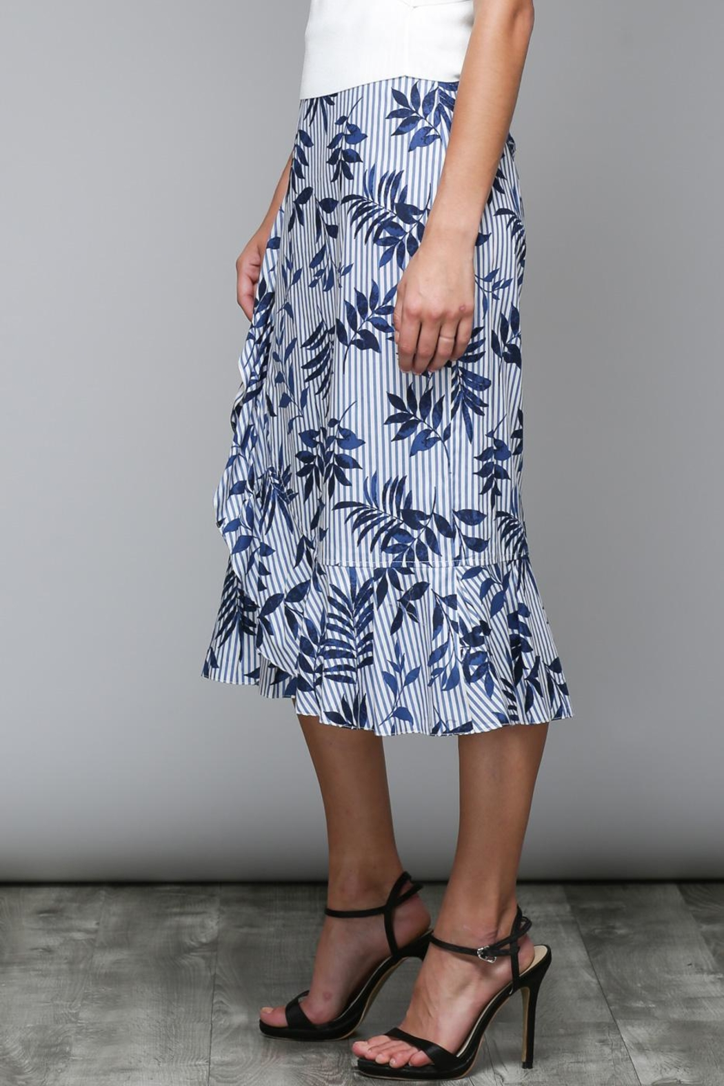 Do & Be Stripe Floral Skirt - Side Cropped Image