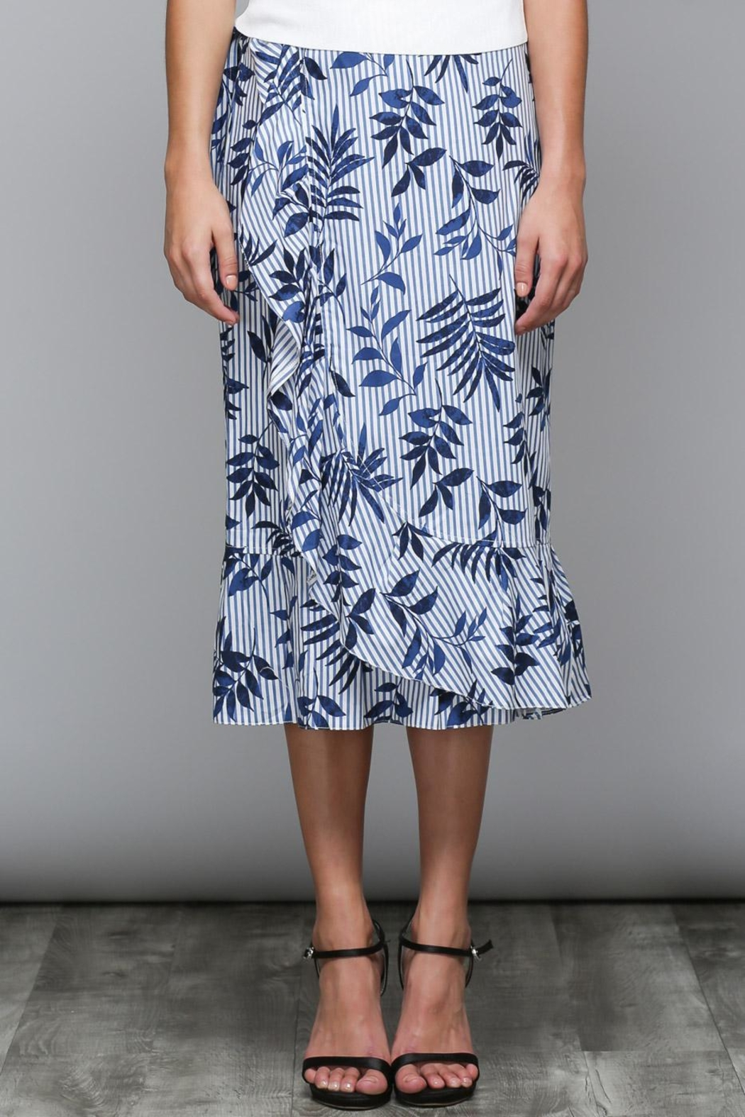 Do & Be Stripe Floral Skirt - Main Image