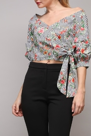 Do & Be Stripe Flower Top - Product Mini Image