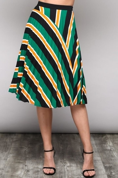 Do & Be Stripe Pleated Skirt - Product List Image