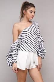 Do & Be Stripe Ruffle Top - Product Mini Image