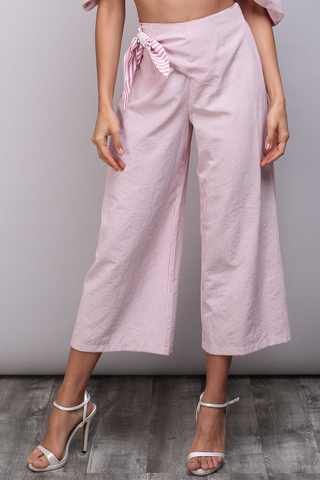 Do & Be Stripe Tie Pants - Side Cropped Image