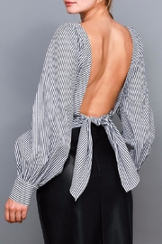 Do & Be Stripe Tie Shirt - Front cropped