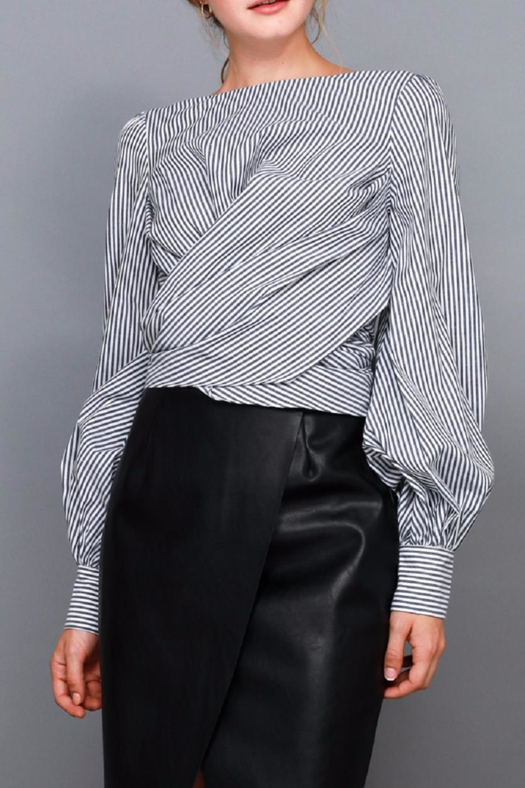 Do & Be Stripe Tie Shirt - Front Full Image