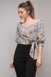 Do & Be Stripe Tie Top - Front cropped