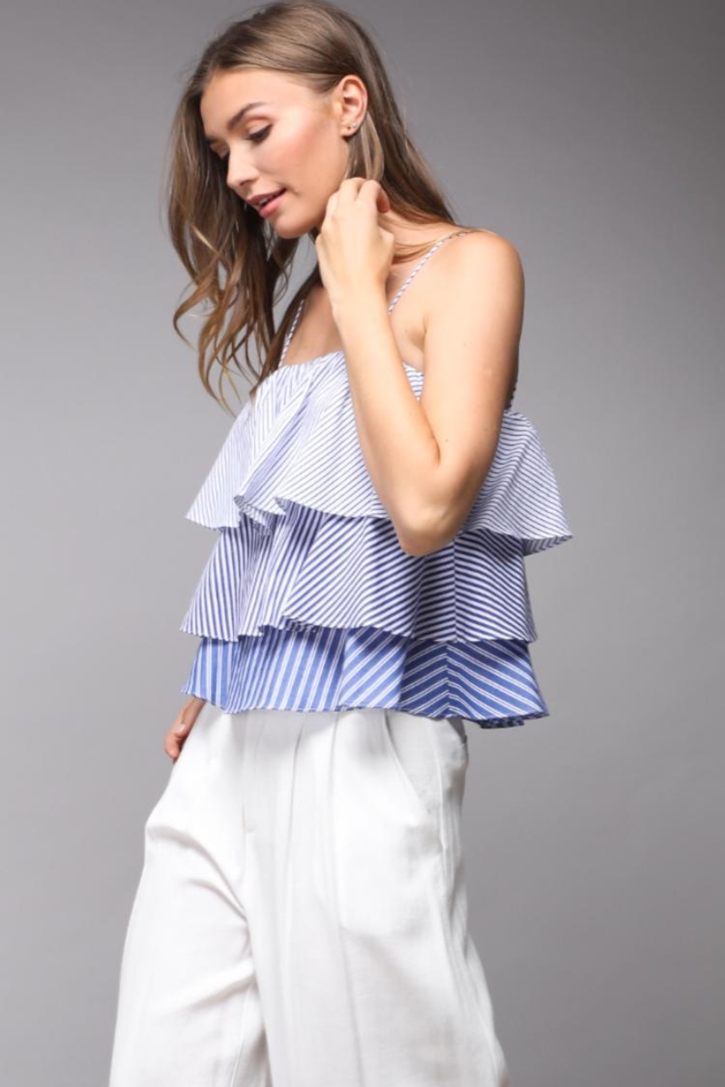 Do & Be Striped Layered Top - Front Full Image