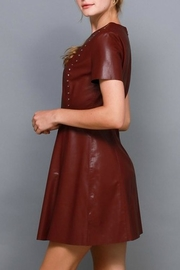 Do & Be Studded Leather Dress - Front full body