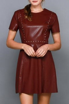 Do & Be Studded Leather Dress - Product List Image